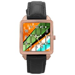 Abstract Wallpapers Rose Gold Leather Watch