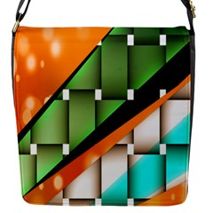 Abstract Wallpapers Flap Messenger Bag (S)