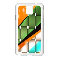 Abstract Wallpapers Samsung Galaxy Note 3 N9005 Case (White)