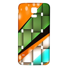 Abstract Wallpapers Samsung Galaxy S5 Back Case (White)