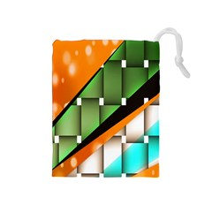 Abstract Wallpapers Drawstring Pouches (Medium)