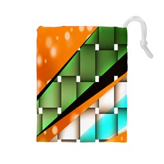 Abstract Wallpapers Drawstring Pouches (Large)