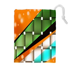 Abstract Wallpapers Drawstring Pouches (Extra Large)