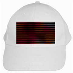 Colorful Venetian Blinds Effect White Cap
