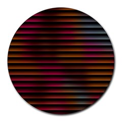 Colorful Venetian Blinds Effect Round Mousepads