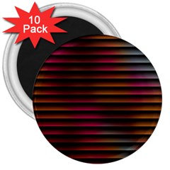 Colorful Venetian Blinds Effect 3  Magnets (10 Pack)