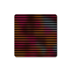 Colorful Venetian Blinds Effect Square Magnet
