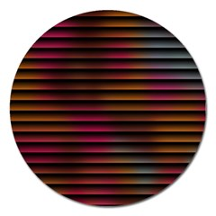 Colorful Venetian Blinds Effect Magnet 5  (round)