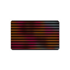 Colorful Venetian Blinds Effect Magnet (name Card)