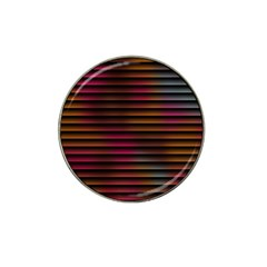 Colorful Venetian Blinds Effect Hat Clip Ball Marker (4 Pack)