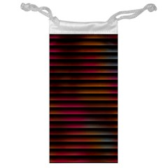 Colorful Venetian Blinds Effect Jewelry Bag