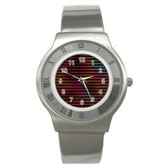 Colorful Venetian Blinds Effect Stainless Steel Watch