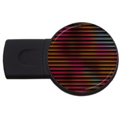 Colorful Venetian Blinds Effect Usb Flash Drive Round (4 Gb)