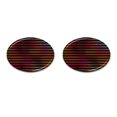 Colorful Venetian Blinds Effect Cufflinks (Oval)