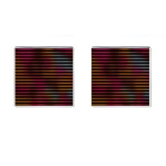 Colorful Venetian Blinds Effect Cufflinks (Square)