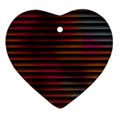 Colorful Venetian Blinds Effect Heart Ornament (two Sides)