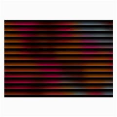 Colorful Venetian Blinds Effect Large Glasses Cloth (2 Side)