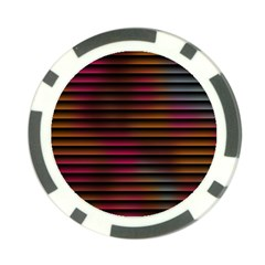Colorful Venetian Blinds Effect Poker Chip Card Guard