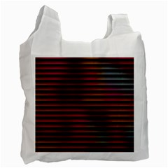 Colorful Venetian Blinds Effect Recycle Bag (two Side)
