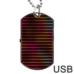 Colorful Venetian Blinds Effect Dog Tag Usb Flash (one Side)