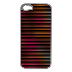 Colorful Venetian Blinds Effect Apple iPhone 5 Case (Silver)