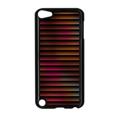 Colorful Venetian Blinds Effect Apple iPod Touch 5 Case (Black)