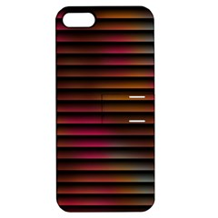 Colorful Venetian Blinds Effect Apple iPhone 5 Hardshell Case with Stand