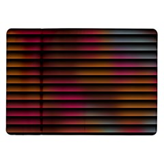 Colorful Venetian Blinds Effect Samsung Galaxy Tab 10.1  P7500 Flip Case