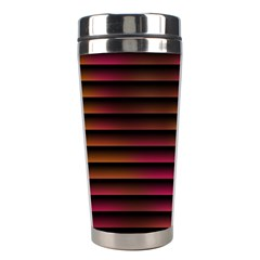 Colorful Venetian Blinds Effect Stainless Steel Travel Tumblers