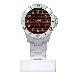 Colorful Venetian Blinds Effect Plastic Nurses Watch