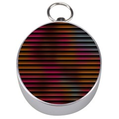 Colorful Venetian Blinds Effect Silver Compasses