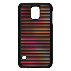 Colorful Venetian Blinds Effect Samsung Galaxy S5 Case (Black)