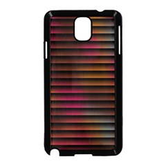 Colorful Venetian Blinds Effect Samsung Galaxy Note 3 Neo Hardshell Case (Black)