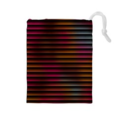 Colorful Venetian Blinds Effect Drawstring Pouches (Large)