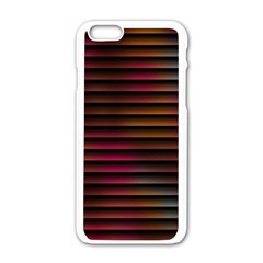 Colorful Venetian Blinds Effect Apple Iphone 6/6s White Enamel Case