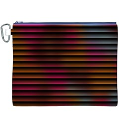 Colorful Venetian Blinds Effect Canvas Cosmetic Bag (XXXL)