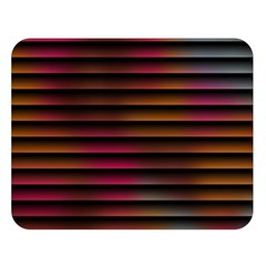 Colorful Venetian Blinds Effect Double Sided Flano Blanket (large)
