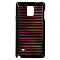 Colorful Venetian Blinds Effect Samsung Galaxy Note 4 Case (black)
