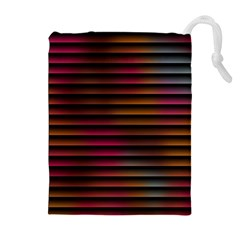 Colorful Venetian Blinds Effect Drawstring Pouches (extra Large)