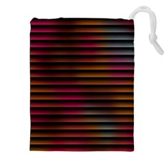 Colorful Venetian Blinds Effect Drawstring Pouches (xxl)