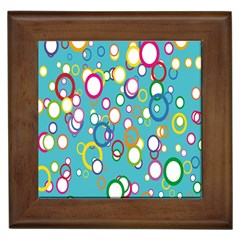 Circles Abstract Color Framed Tiles