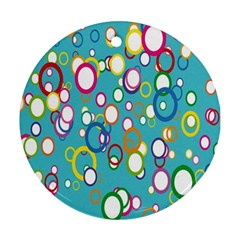 Circles Abstract Color Ornament (round)