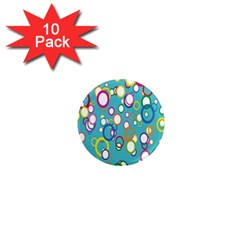 Circles Abstract Color 1  Mini Magnet (10 pack)