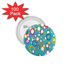 Circles Abstract Color 1.75  Buttons (100 pack)