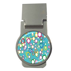 Circles Abstract Color Money Clips (round)