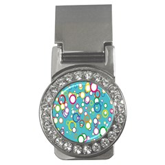 Circles Abstract Color Money Clips (CZ)
