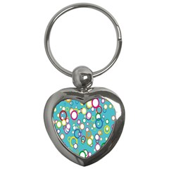 Circles Abstract Color Key Chains (heart)