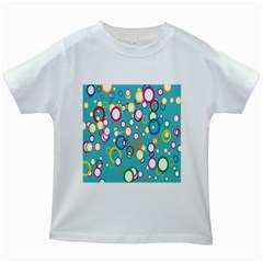 Circles Abstract Color Kids White T Shirts