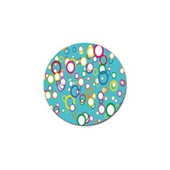 Circles Abstract Color Golf Ball Marker (4 pack)