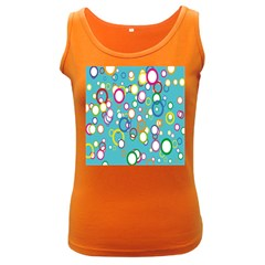 Circles Abstract Color Women s Dark Tank Top